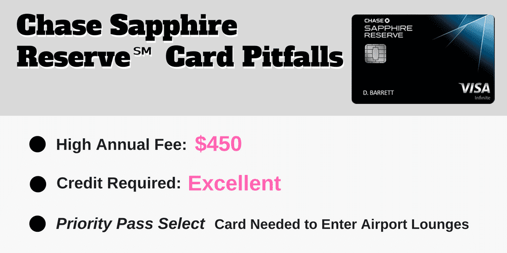 chase sapphire reserve card pitfalls