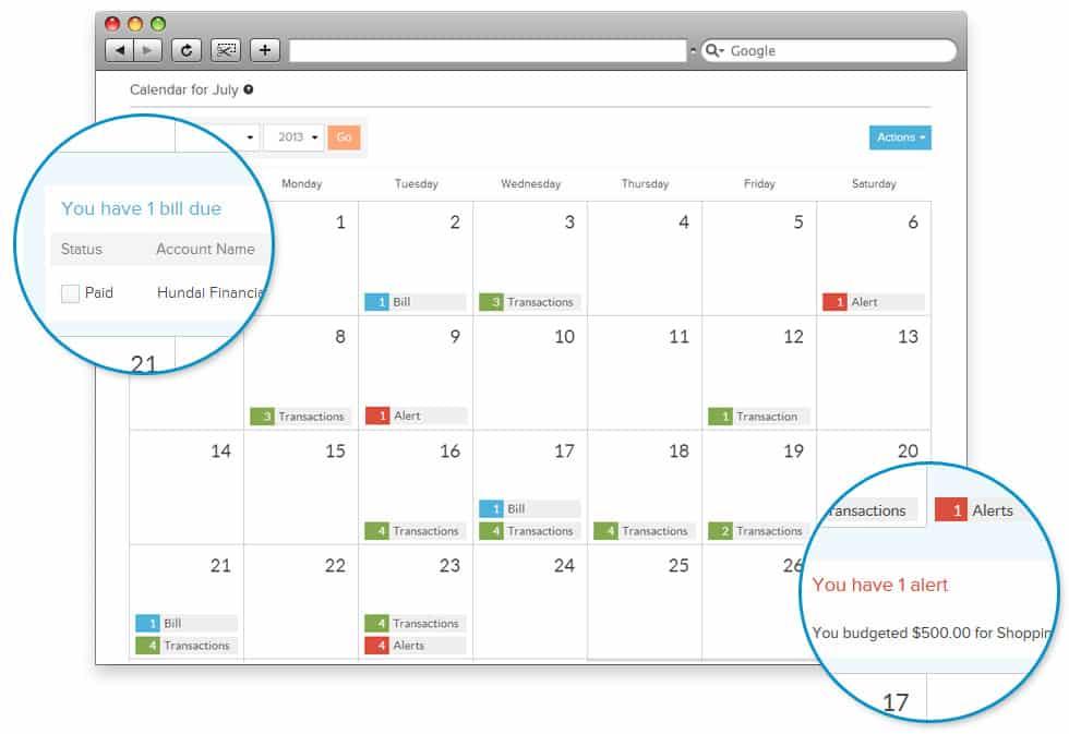 power wallet monthly calendar