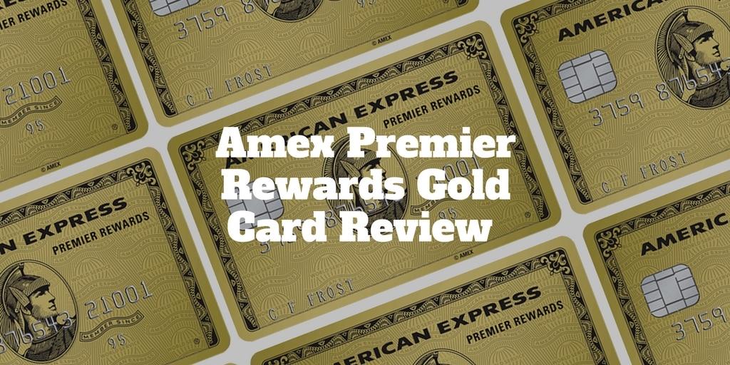 amex premier rewards gold card review